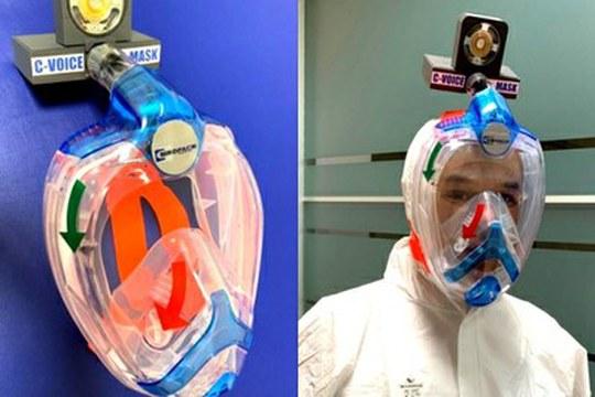 La maschera da snorkeling trasformata in dispositivo di protezione per il personale medico
